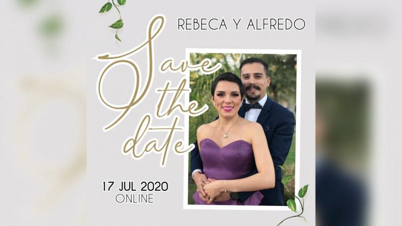 Todo listo para la boda virtual de Rebeca Godoy