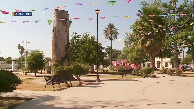 Plaza en Cócorit sin inaugurar por pandema de Covid 19