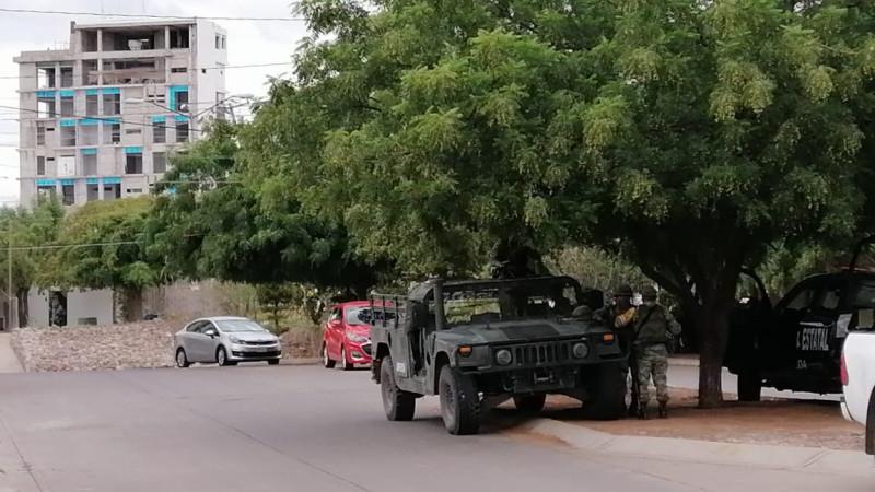 Fuerte operativo en la zona de Villa Universidad en Culiacán