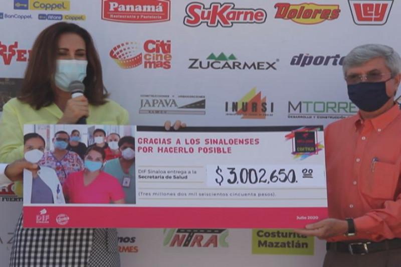 Entrega DIF-Sinaloa más de 3 MDP recaudados en la Ruta 200 K