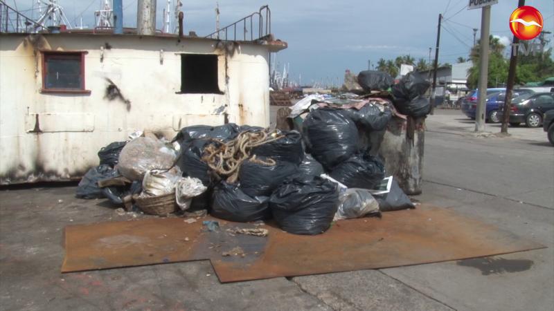 Mucha basura y poco trabajo en el muelle del parque Bonfil