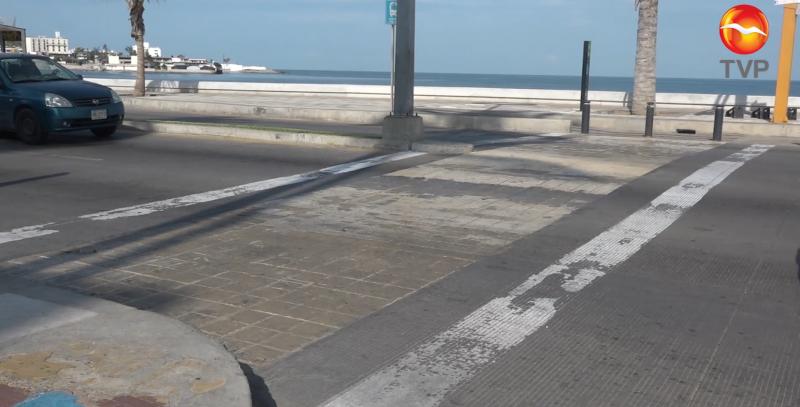 Es la pintura, la causante de mal estado de pasos peatonales