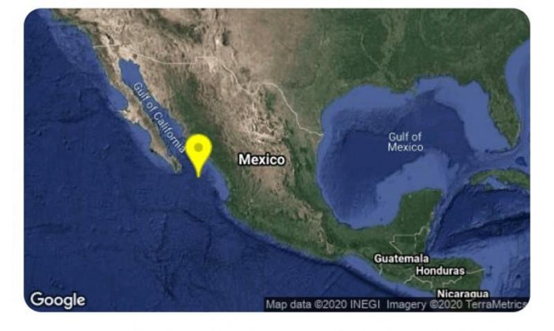 Se registra sismo de 4.0 grados en Mazatlán