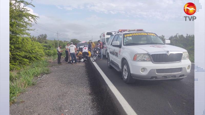 Accidente en motocicleta deja dos lesionados en Escuinapa