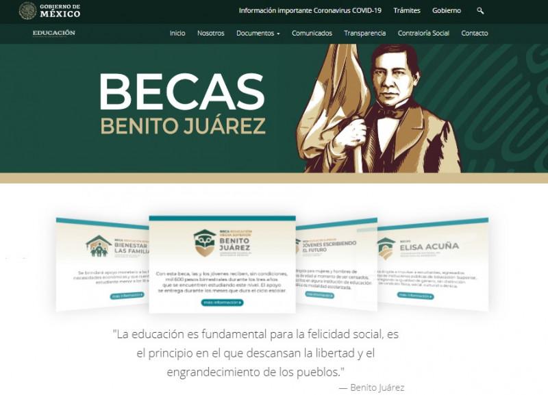 Alertan sobre página fraudulenta para las Becas Benito Juárez de preparatoria
