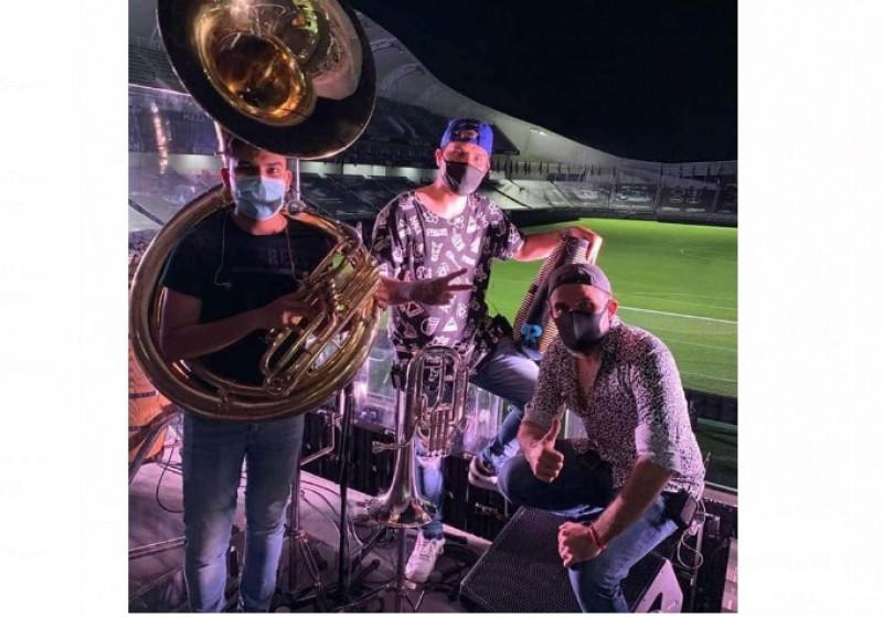 """Fotogalería: Así se prepara la Banda El Recodo para su concierto en """"El Kraken"""""""