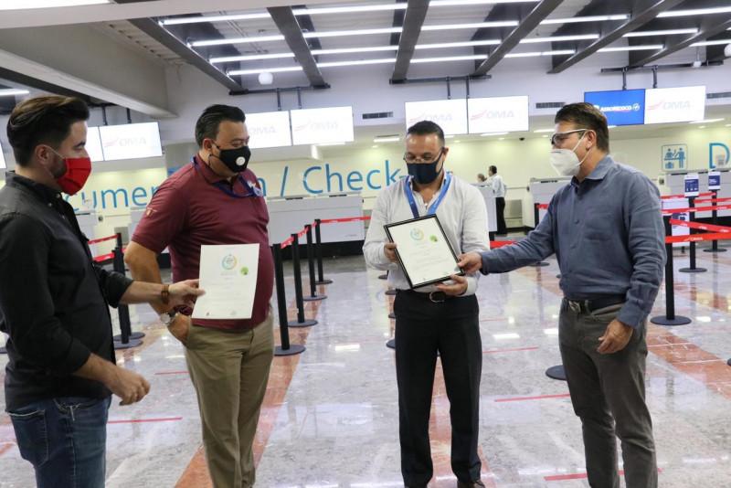 Recibe Aeropuerto de Culiacán  Distintivo de Sanidad