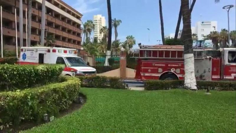 Se incendia cuarto de hotel de Mazatlán