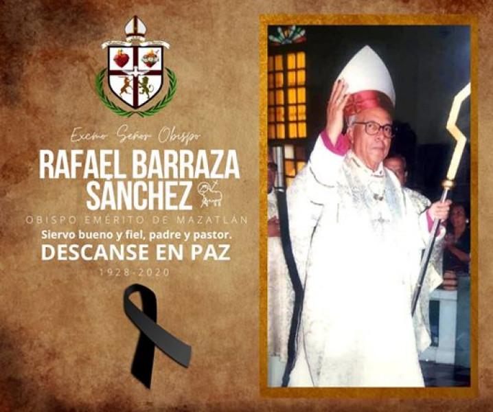Muere obispo emérito de Mazatlán, Monseñor Rafael Barraza