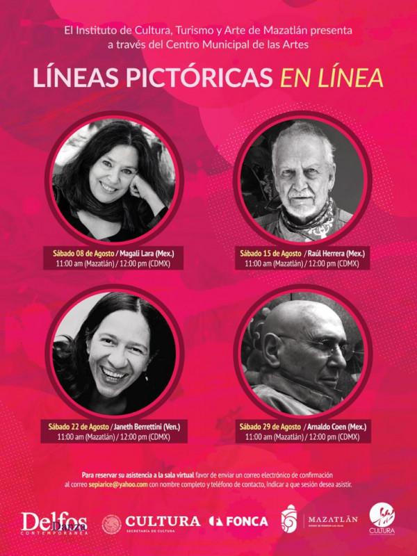 "Este sábado inicia ""Líneas Pictóricas en Línea"""