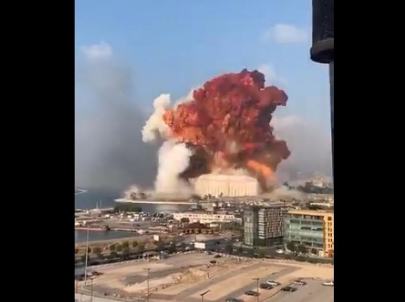 Video: explota bodega de pirotecnia en la capital de Líbano