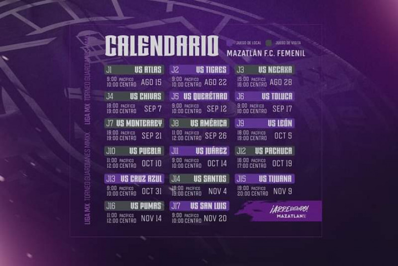 Mazatlán FC Femenil ya tiene calendario en la Liga MX