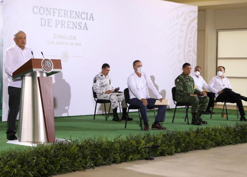 AMLO visita Culiacán y habla sobre salud, seguridad y educación a nivel estatal y nacional