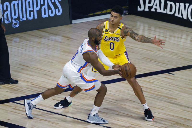 El Thunder le pega a los Lakers