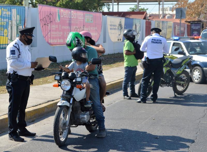 Llama Tránsito Municipal a respetar los límites de velocidad