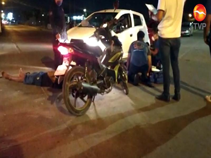 Choque deja a dos motociclistas lesionados en Mazatlán