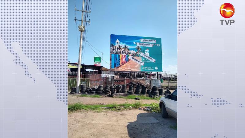Suspenden espectaculares de Mazatlán en Culiacán