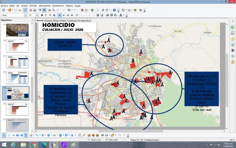 Colonias del sur de Culiacán, concentran el mayor índice de violencia