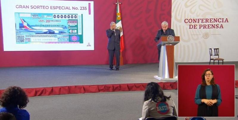 Sector salud recibirá los boletos que no se vendan de la rifa del avión presidencial: AMLO