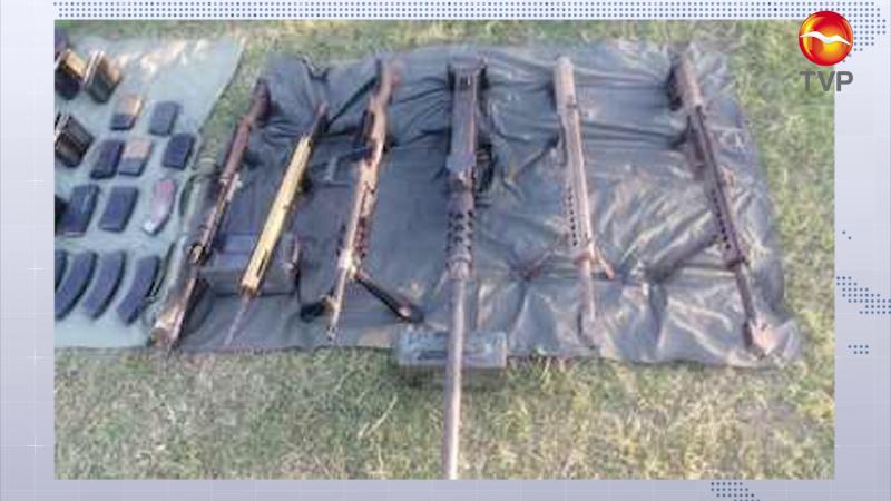 Guardia Nacional localizan armas abandonadas