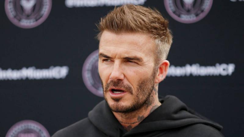 Al estilo Miami Vice, Beckham apareció en programa de TV