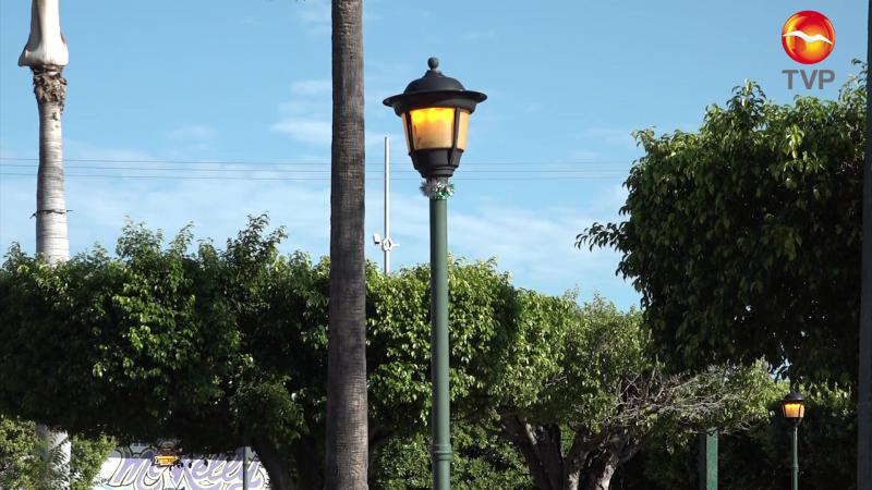 Encienden lámparas... de día en plazas de la zona rural