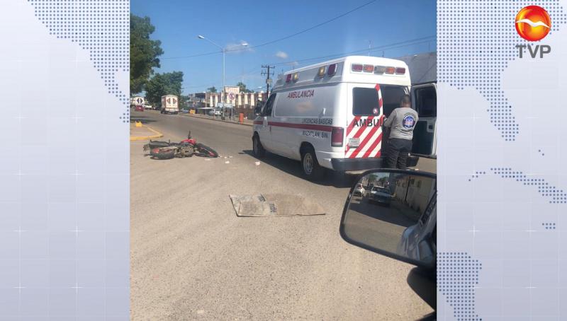 Mujer resulta lesionada en un accidente en Villa Unión