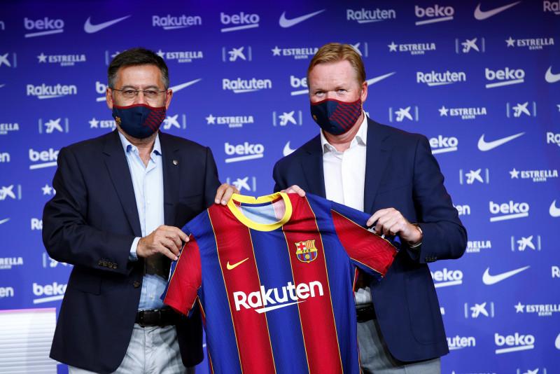 Ronald Koeman es presentado como DT del Barcelona