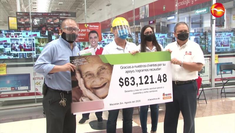 """Recibe Banco de Alimentos Mazatlán donativo de campaña """"Redondeo"""""""
