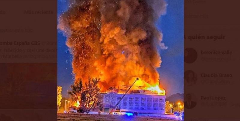 Una persona muere y nueve resultan heridas en incendio en hotel de España