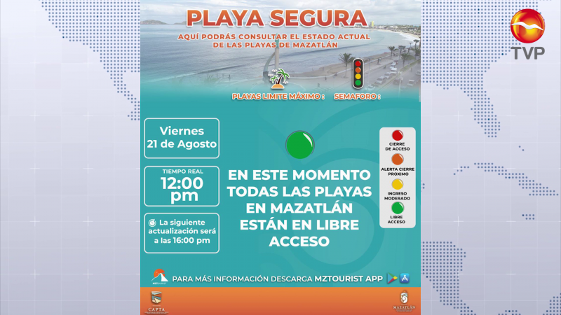 Abren playas de Mazatlán a bañistas
