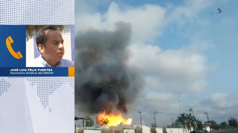 Por incendio, Inipaf suspende labores de manera preventiva
