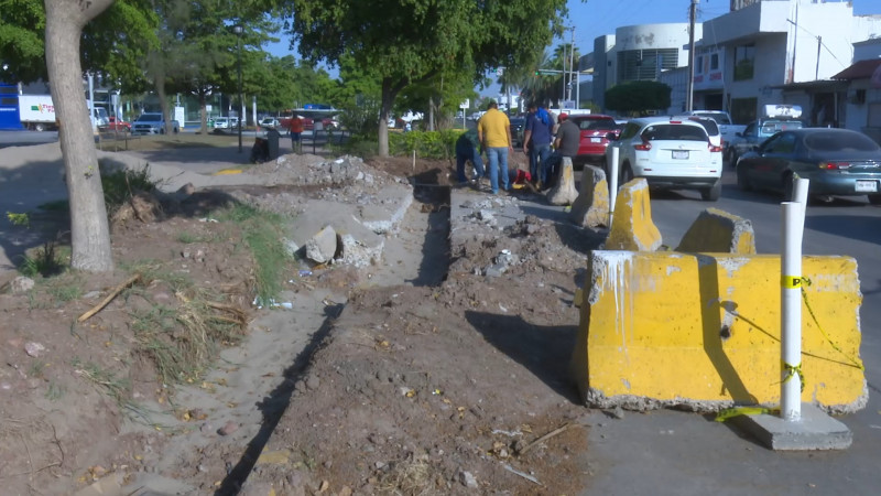 Reparan fuentes públicas de Los Mochis