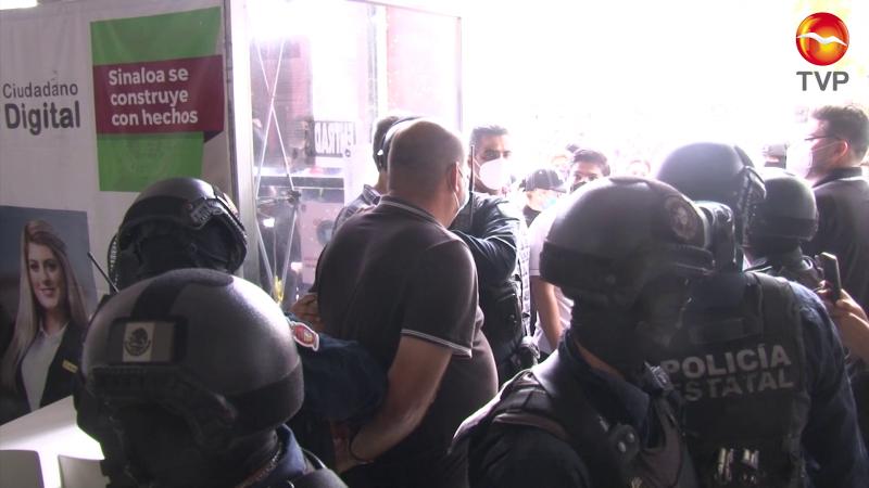 Protesta, jaloneos y detenidos en elección del STASE en Mazatlán