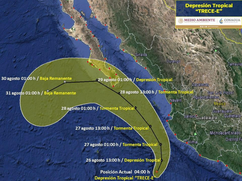 Actividad ciclónica en el pacífico: Meteorológico