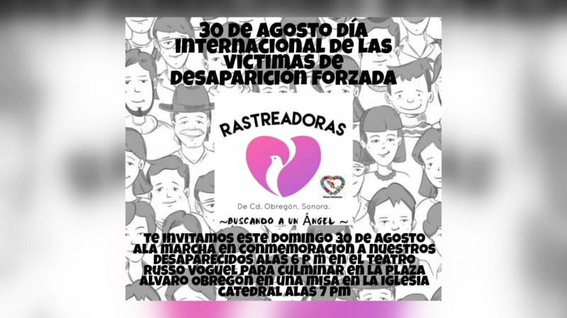 Rastreadoras invitan a marcha por desaparecidos este domingo