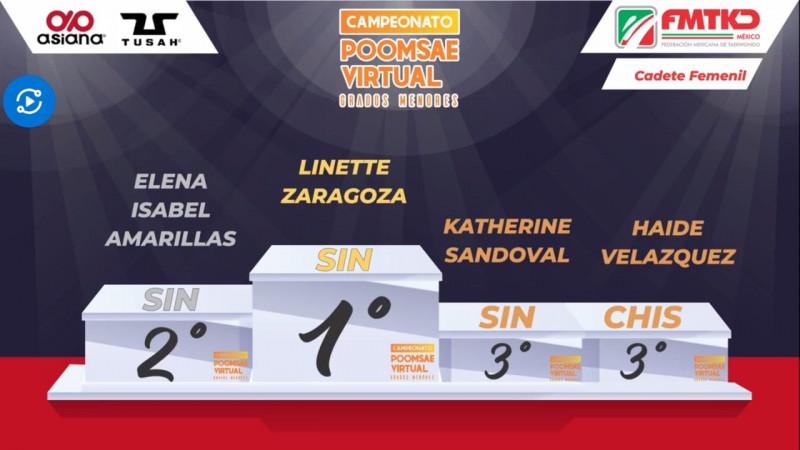 Sinaloa consigue tres oros en campeonato nacional Poomsae virtual