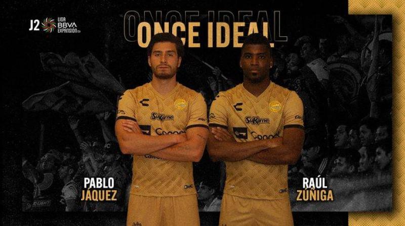 Pablo Jáquez y José Zúñiga de Dorados en el once ideal de la jornada dos en la Liga de Expansión