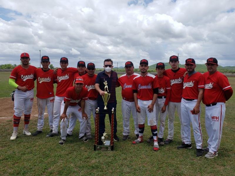Premian al campeón de la Liga de Beisbol de Segunda Fuerza