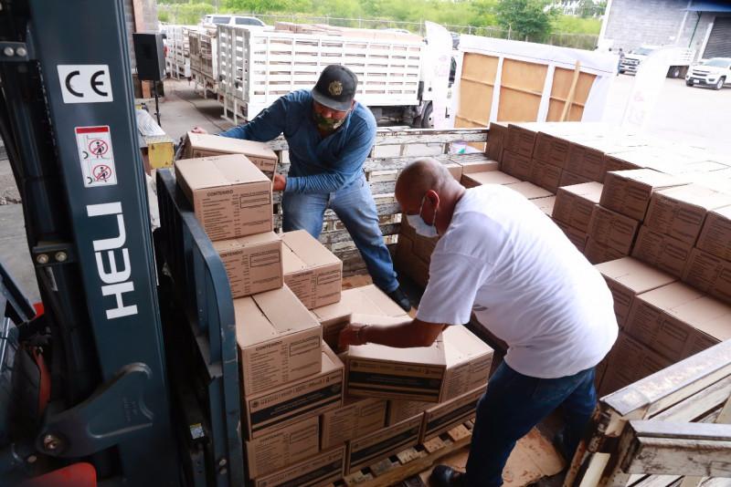 Realiza DIF Sinaloa segunda entrega extraordinaria de despensas a los 18 municipios