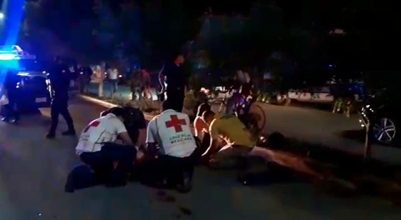 Motociclista atropelló a un peatón en Escuinapa
