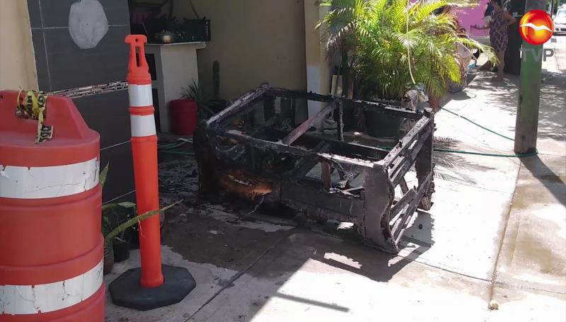 Dos menores intoxicados en incendio