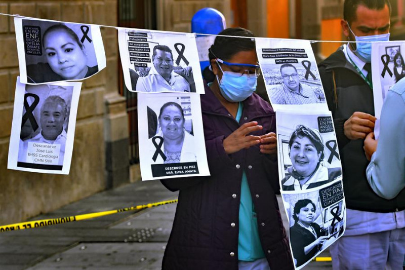 México es el país con más personal de salud fallecido por Covid-19