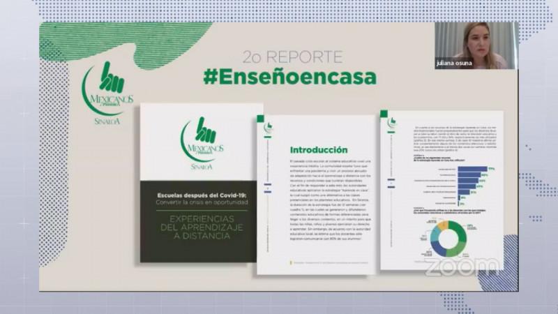 Mexicanos Primero Sinaloa presentó la segunda entrega del reporte #EnseñoEnCasa
