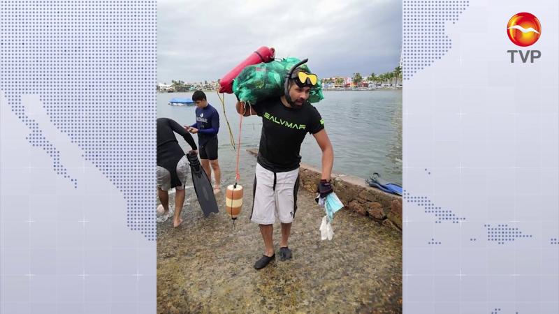 Sacan cubrebocas de las profundidades del mar