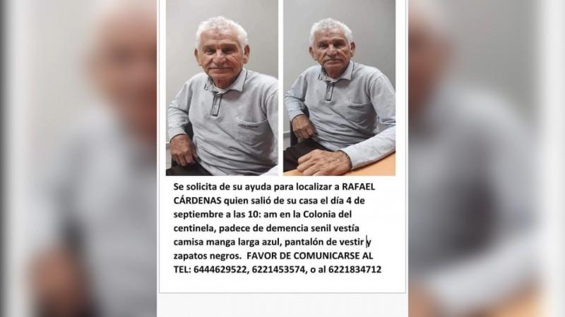Piden apoyo para encontrar Rafael Cardenas