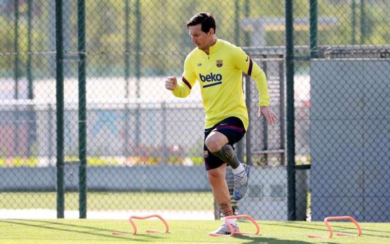 Messi entrena por separado