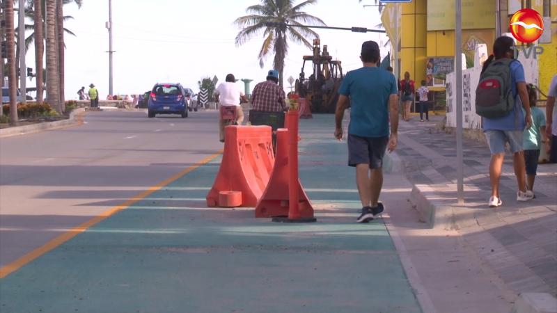 Ven riesgo de accidentes con ciclovías en la Camarón Sábalo