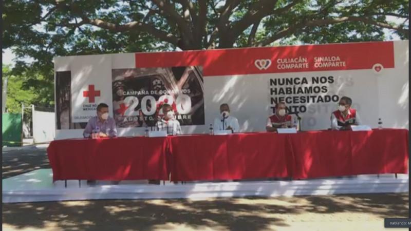 Inicia la campaña de donativos 2020 , para apoyar a Cruz Roja Culiacán