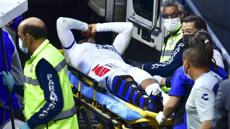 Burrito Hernández, operado con éxito tras fractura de tobillo ante Cruz Azul